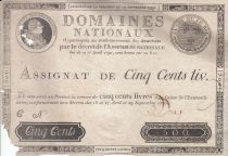 Francia 500 Livres Louis XVI - 29 Sept. 1790 - Serial C