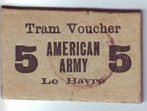 Francia Le-Havre Tramways. American Army