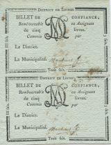 Francia Loches Loches District - 1792, R5 Rare !