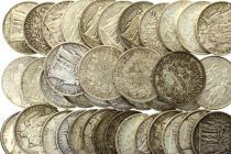 Francia Lot of 40 x 10 Francs Hercules - Silver 1965 to 1967 - 1 kg of coins