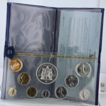 Francia Monnaie de Paris Uncirculated set - 10 coins -1980