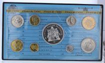 Francia Monnaie de Paris Uncirculated set - 9 coins - 1978
