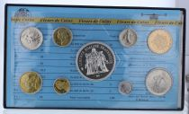Francia Monnaie de Paris Uncirculated set - 9 coins - 1978