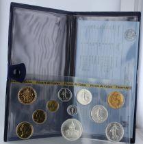 Francia Monnaie de Paris Uncirculated set 1982