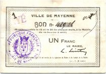 Frankreich 1 Franc Mayenne City