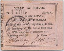 Frankreich 1 Franc Noyon City - 1915