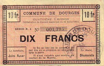 Frankreich 10 F Dourges