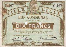 Frankreich 10 F Lille 2 trous perforés