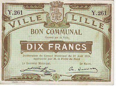 Frankreich 10 F Lille