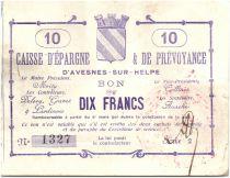 Frankreich 10 Francs Avesnes-Sur-Helpe Caisse d´ép. prévoyance
