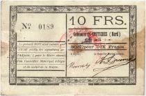 Frankreich 10 Francs Coutiches City - 1914