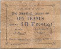 Frankreich 10 Francs Dechy City - 1914