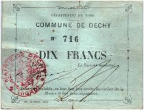 Frankreich 10 Francs Dechy City