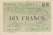 Frankreich 10 Francs Douai City - 1916