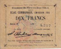 Frankreich 10 Francs Flers-En-Escrebieux City - 1914