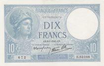 Frankreich 10 Francs Minerva - 09-01-1941 - Serial S.83188