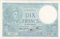 Frankreich 10 Francs Minerva - 1939