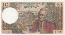 Frankreich 10 Francs Voltaire - Serial E.482 - 08-05-1969