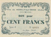 Frankreich 100 Francs 1940, City de Romilly-sur-Seine