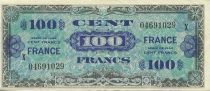 Frankreich 100 Francs Allied Military Currency - Serial X Scarce