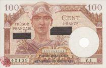 Frankreich 100 Francs Mercury, French Treasury  -Suez - 1956 - Serial V.1 42109