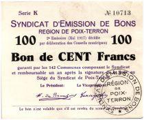 Frankreich 100 Francs Poix-Terron City - 1917