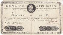 Frankreich 100 Livres 16-17 April, 29 September 1790 and 19 July 1791 - Sign. Broyard