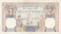 Frankreich 1000 Francs Ceres and Mercury - 03-11-1938 Serial E.5131