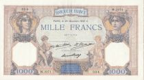 Frankreich 1000 Francs Ceres and Mercury - 29-12-1932 Serial W.2271