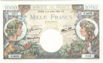 Frankreich 1000 Francs Commerce and Industry - 1944