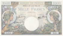 Frankreich 1000 Francs Commerce and Industry - C.4746 - 1944