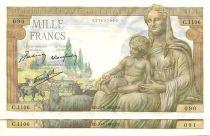 Frankreich 1000 Francs Demeter - 1942