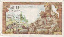 Frankreich 1000 Francs Demeter - 1943