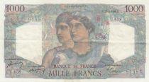 Frankreich 1000 Francs Minerva and Hercules - 26-04-1950 - Serial U.658