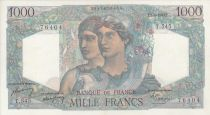 Frankreich 1000 Francs Minerve and Hercule -  07/04/1949  - Serial T.545