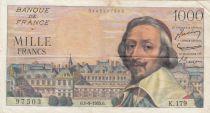 Frankreich 1000 Francs Richelieu 01-09-1955 - Serial K.179
