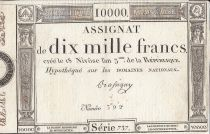 Frankreich 10000 Francs 18 Nivose Year III - 7.1.1795 - Sign. Bassigny