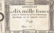 Frankreich 10000 Francs 18 Nivose Year III - 7.1.1795 - Sign. D\'Osseville