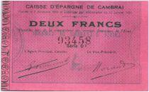 Frankreich 2 Francs Cambrai Caisse d´Epargne