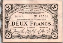 Frankreich 2 Francs Cambrai City - 1916