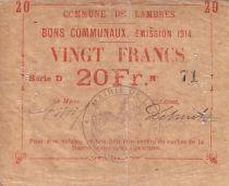 Frankreich 20 F Lambres