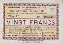 Frankreich 20 F Rouvroy
