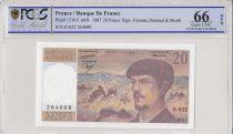 Frankreich 20 Francs Debussy - 1987 - O.022 - PCGS 66 OPQ