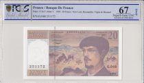 Frankreich 20 Francs Debussy - 1995 Serial G.48 - PCGS 67 OPQ