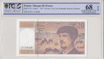 Frankreich 20 Francs Debussy - 1997 - Serial Z.053 - PCGS 68 OPQ