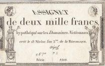 Frankreich 2000 Francs 18 Nivose Year III - 7.1.1795 - Sign. Coipel