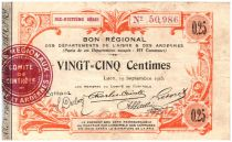 Frankreich 25 cent. Laon Régional - 1915