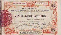 Frankreich 25 cent. Laon Régional - 1916