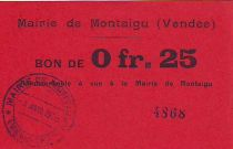 Frankreich 25 cent. Montaigu