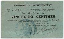 Frankreich 25 Centimes Tugny-Et-Pont City - 1914